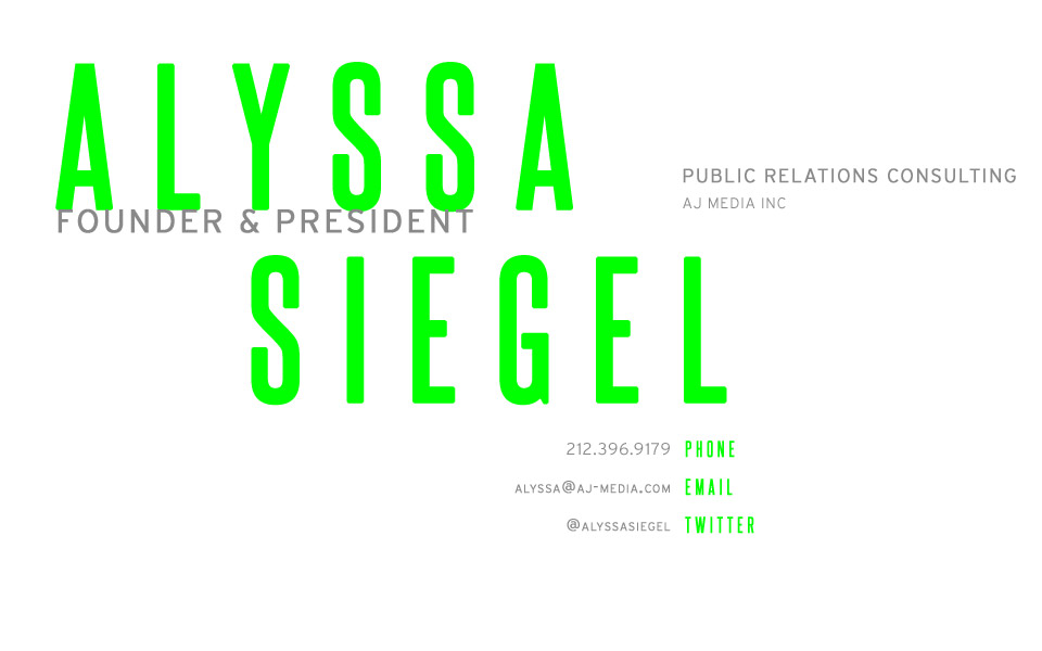Alyssa Siegel | Founder & President of AJ Media Inc